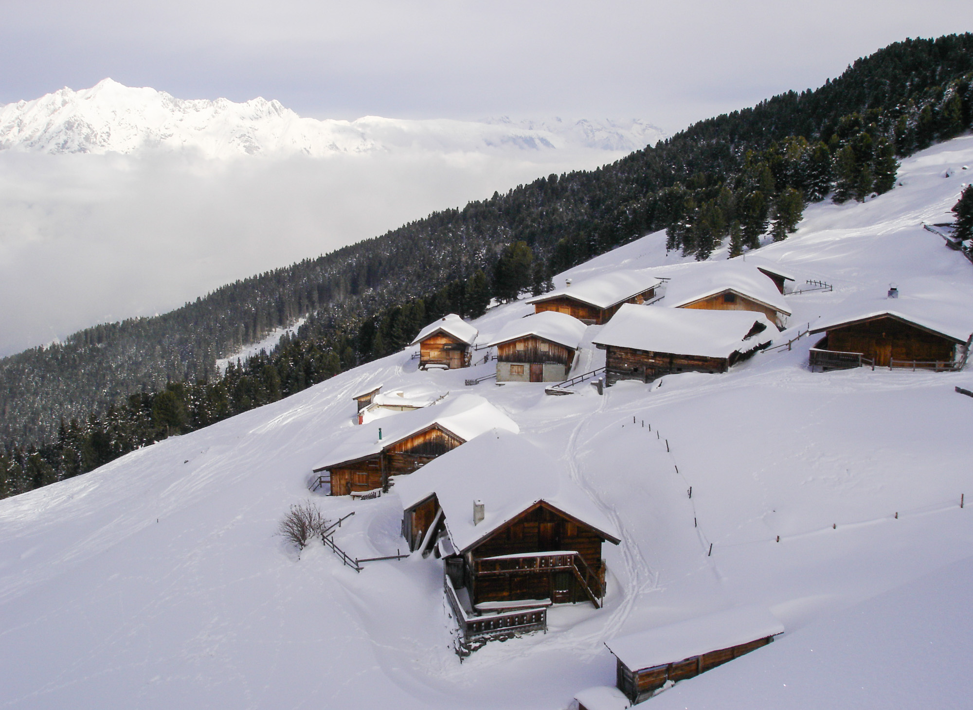 Largoz-Alm im Winter
