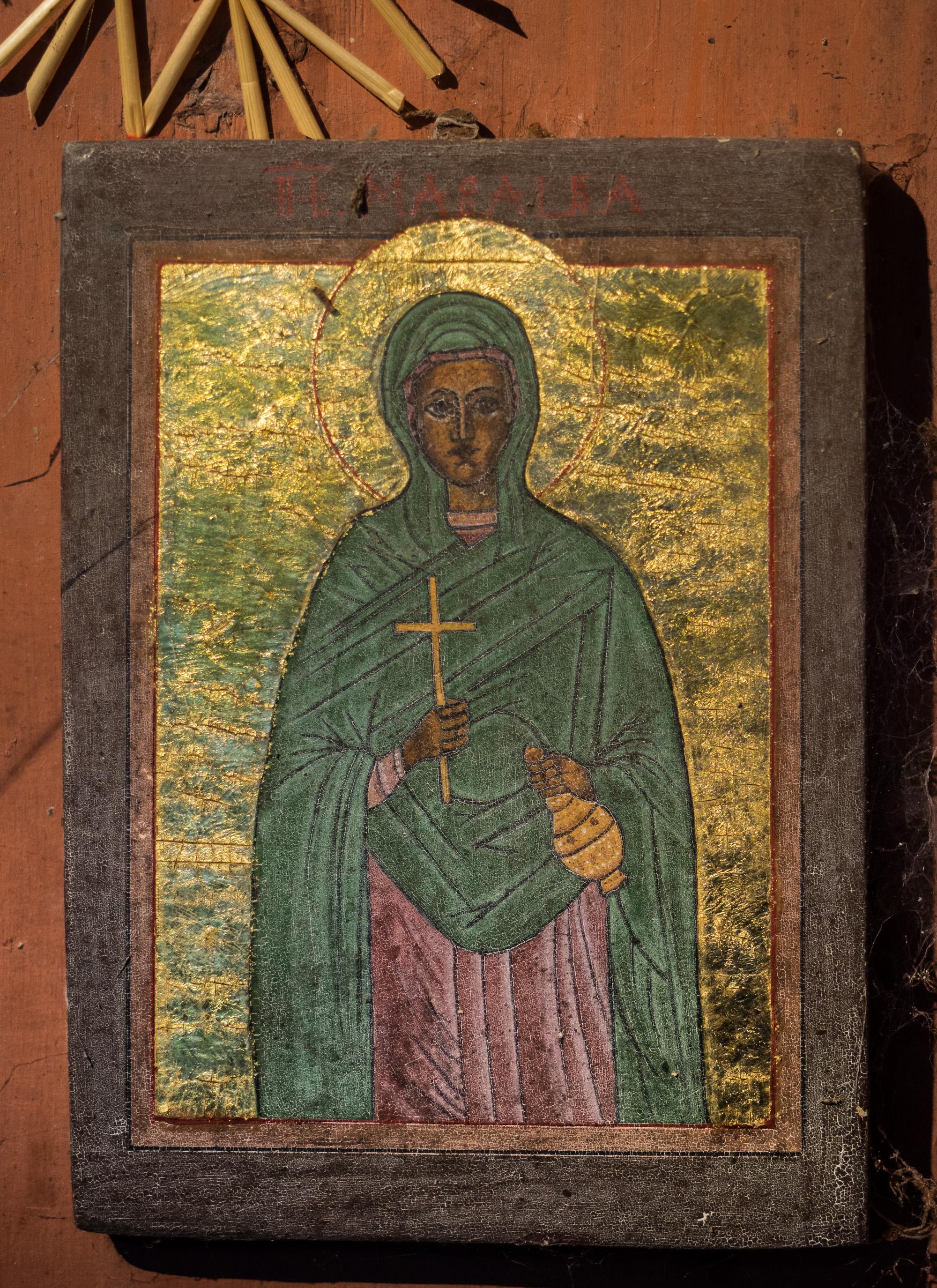 Ikone der Heiligen Magdalena von Vroni Windischer