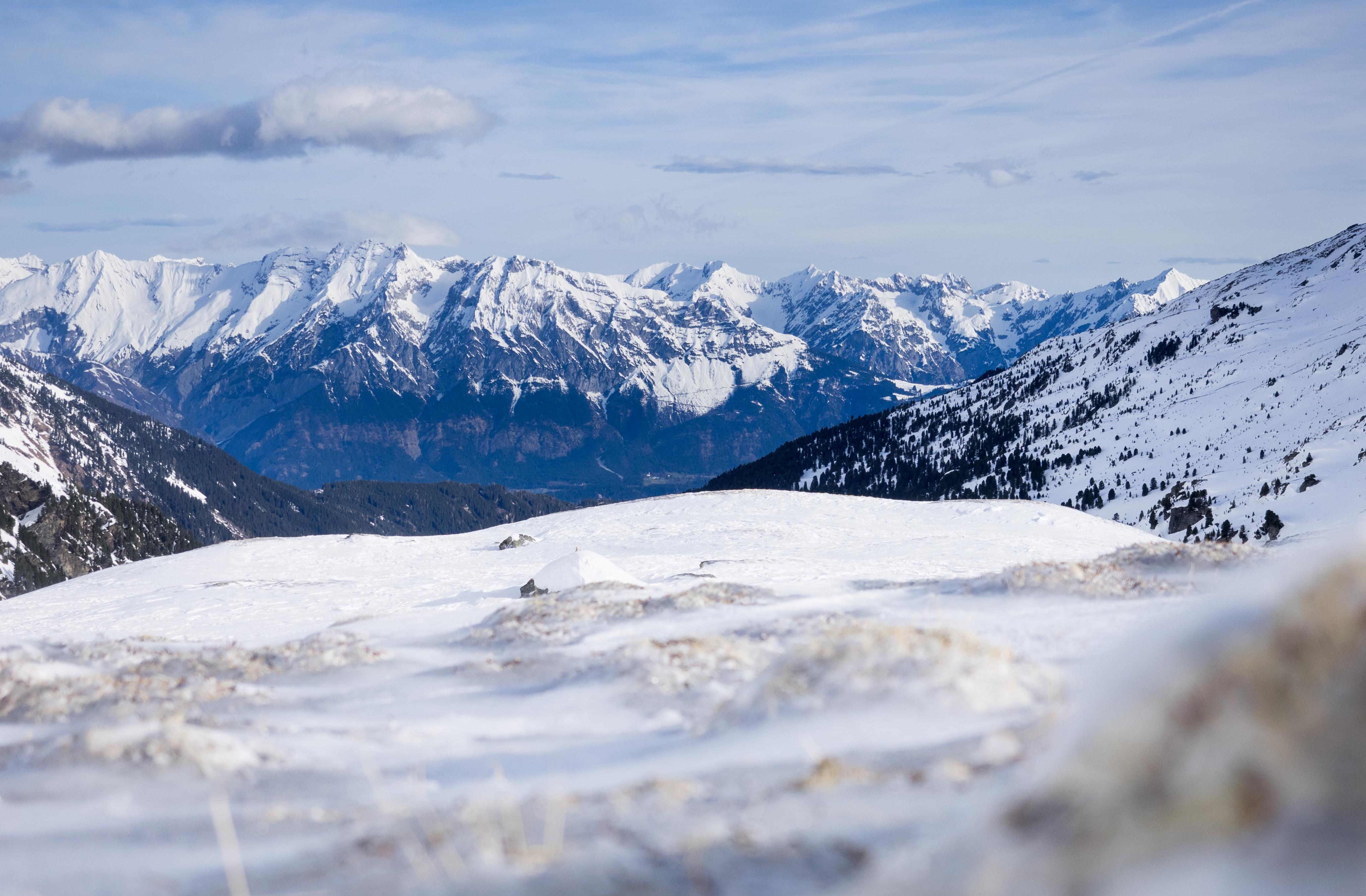 Blick von den Melkböden im Voldertal zum Karwendel