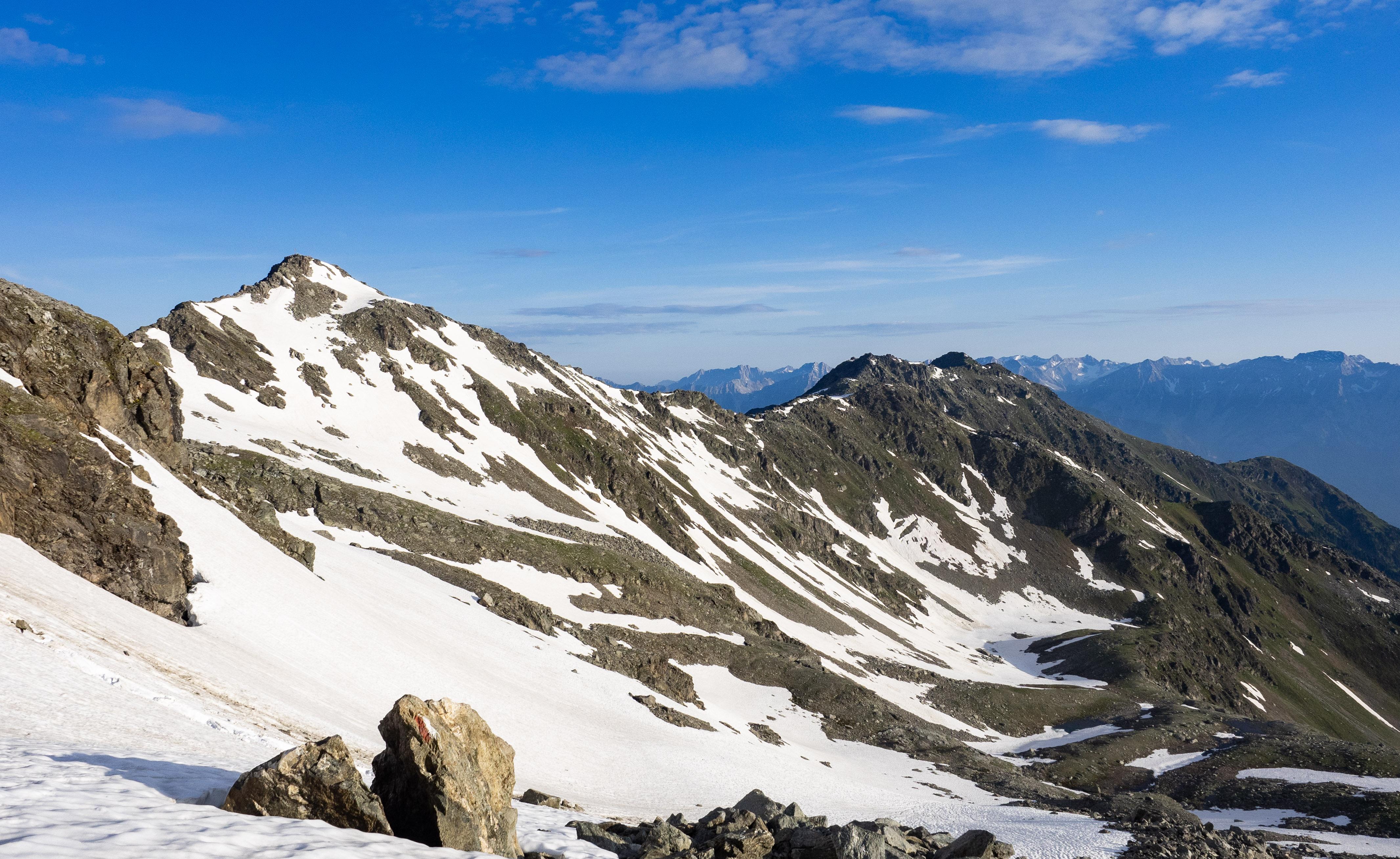 Blick in Richtung Kreuzspitze, Gamslahnerspitze und Glungezer