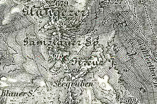 Kartenausschnitt mit dem Kreuzjoch