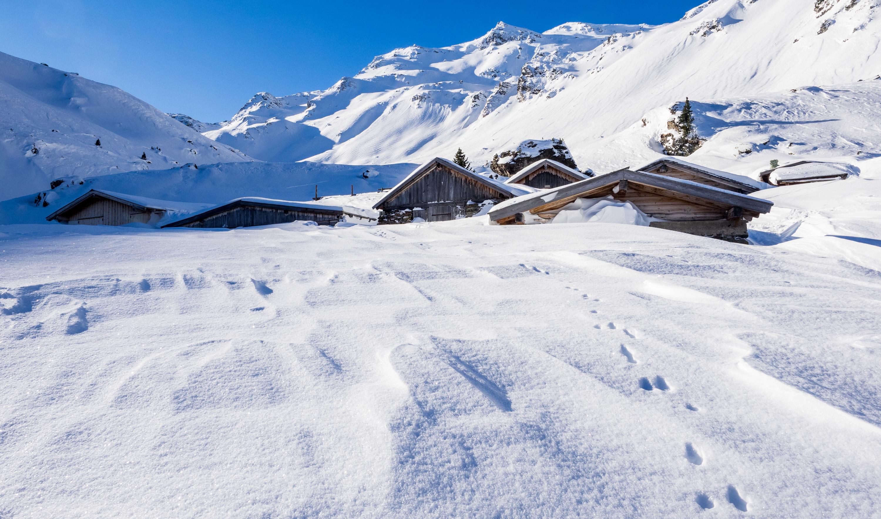 Steinkasern-Alm im Winter