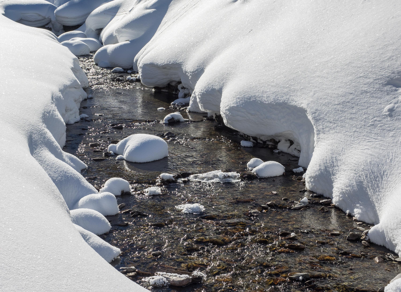 Voldertalbach am Klausboden im Winter