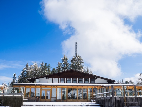 Gasthaus Halsmarter im Schnee