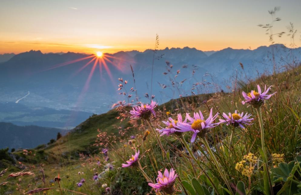 Am Largoz bei Sonnenuntergang